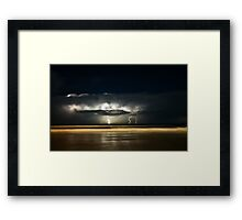 Lights of Surfers Framed Print
