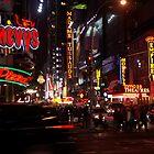 Manhattan by night, New York USA by Lunatic