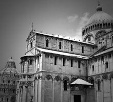 Piazza dei Miracoli in BW by ArtistryBySonia