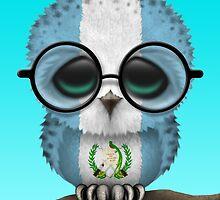Nerdy Guatemalan Baby Owl on a Branch by Jeff Bartels