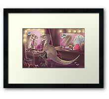 She Stared at Herself in Raptor Framed Print