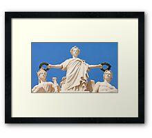 Estatuária Arco da Rua Augusta. Glória, Valor e Génio. Framed Print