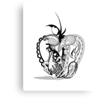 Paisley Apple Canvas Print