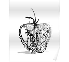 Paisley Apple Poster