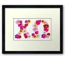 Flower Power Chio  Framed Print