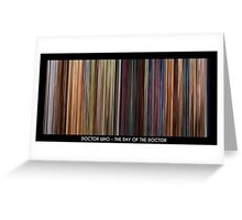 MovieDNA: Doctor Who - The Day of The Doctor - 50th Anniversary Special Greeting Card
