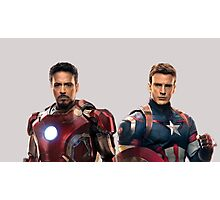 Iron Man and Captain America  Photographic Print