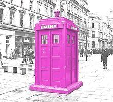 Pink Tardis  by Rob Hawkins