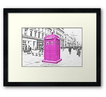 Pink Tardis  Framed Print