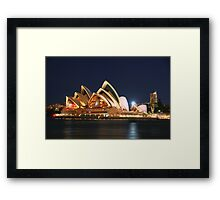 Music Of The Night - Moods of a City # 23 - The HDR Series, Sydney Australia Framed Print
