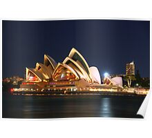 Music Of The Night - Moods of a City # 23 - The HDR Series, Sydney Australia Poster