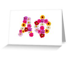 Alpha Phi Flower Letters Greeting Card