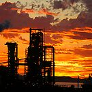 Industrial Sunset by Stanislaw