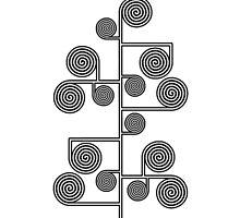 Hypnotic Tree *BLACK* by Ovidiu Avrămuş