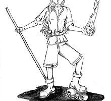 pencil sketch elf by Dalton Sayre