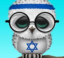 Nerdy Israeli Baby Owl on a Branch by Jeff Bartels