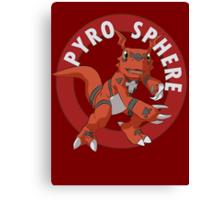 Pyro Sphere Canvas Print