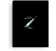 Final fantasy VII New game/Continue? Canvas Print