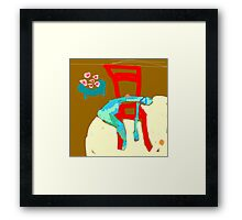 sorry your sick Framed Print