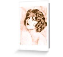 Clara Bow digital watercolor Greeting Card