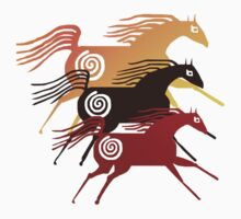Three Ancient Horses T-Shirt