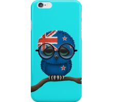 Nerdy New Zealand Baby Owl on a Branch iPhone Case/Skin
