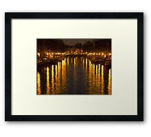 Amsterdam Canal - Oil Painting Effect Framed Print
