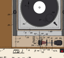 Record Player Patent - Color Sticker