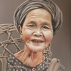 Lao Woman at the market by Colombe  Cambourne