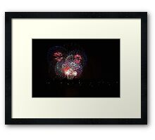 New Years Eve Fireworks 2014  Framed Print