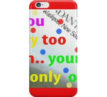 dont worry iPhone Case/Skin
