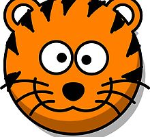 Cute Tiger Face illustration by tshirtdesign