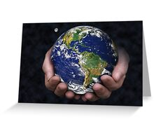 Holding the Earth Greeting Card
