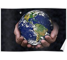 Holding the Earth Poster