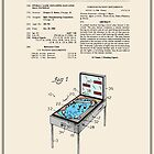 Pinball Machine Patent - Colour by FinlayMcNevin