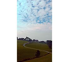 Scenery with clouds, a hill and nothing particular | landscape photography Photographic Print