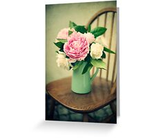 peonies and roses Greeting Card