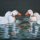 Ducks meet oil painting by coolart