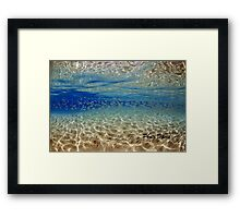 Underwater reflection Framed Print