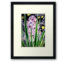 yucca flower watercolor painting art print Framed Print