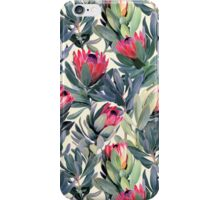 Painted Protea Pattern iPhone Case/Skin