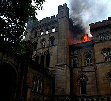 Lennox Castle on fire by MissyVix
