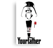 Darth Vader's your Father!! Canvas Print