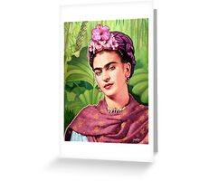 Frida Kahlo - Iconic Mexican Painter Greeting Card
