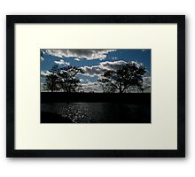 Lonely Benches Framed Print