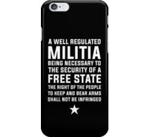 James Madison - Second Amendment iPhone Case/Skin