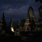 Temple visit at night by Farah McLennan