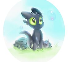 Chibi Toothless by birdpawss