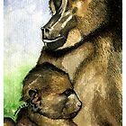 Mother and Child - Chacma Baboons by Cherie Roe Dirksen