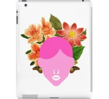 Flower Wedding Crown Portrait (0001) iPad Case/Skin